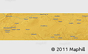 """Physical Panoramic Map of the area around 15°58'32""""S,26°25'29""""E"""