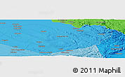 """Political Panoramic Map of the area around 15°58'32""""S,28°7'30""""E"""