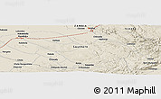 """Shaded Relief Panoramic Map of the area around 15°58'32""""S,28°7'30""""E"""