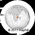 Outline Map of Tete, rectangular outline