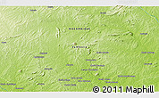 """Physical 3D Map of the area around 15°58'32""""S,38°19'30""""E"""