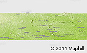 """Physical Panoramic Map of the area around 15°58'32""""S,38°19'30""""E"""