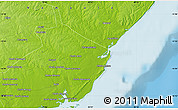 """Physical Map of the area around 15°58'32""""S,40°1'29""""E"""