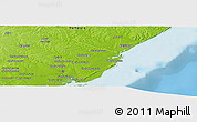 """Physical Panoramic Map of the area around 15°58'32""""S,40°1'29""""E"""