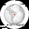 Outline Map of Brasília, rectangular outline