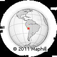 Outline Map of Uraca, rectangular outline