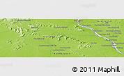 Physical Panoramic Map of Savannakhét