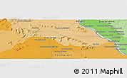 Political Panoramic Map of Savannakhét