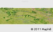 Satellite Panoramic Map of Savannakhét