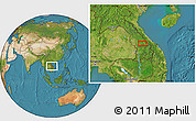 """Satellite Location Map of the area around 16°19'2""""N,106°19'29""""E"""