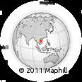 Outline Map of Huế, rectangular outline