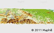 Physical Panoramic Map of Huế