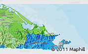 """Political 3D Map of the area around 16°19'2""""N,108°1'30""""E"""