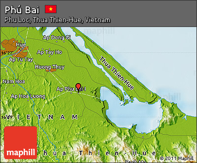 Free Physical Map Of Phu Bai