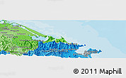 """Political Panoramic Map of the area around 16°19'2""""N,108°1'30""""E"""
