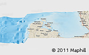 """Shaded Relief Panoramic Map of the area around 16°19'2""""N,119°55'30""""E"""