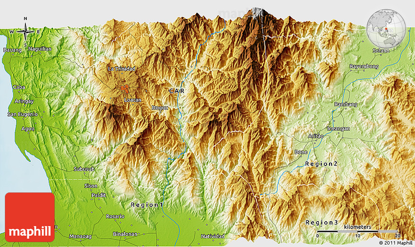 Physical D Map Of Baguio - Baguio map