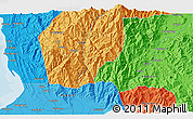 Political 3D Map of Lobong