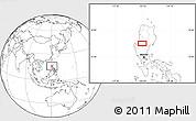 Blank Location Map of Tuba