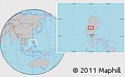 Gray Location Map of Tuba
