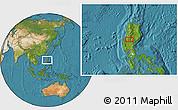 Satellite Location Map of Tuba