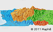 Political Panoramic Map of Tuba