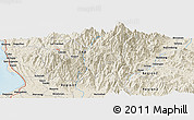 Shaded Relief Panoramic Map of Tuba