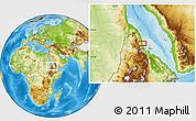 Physical Location Map of Ciabbub Areddu