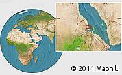 Satellite Location Map of Ciabbub Areddu