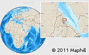 Shaded Relief Location Map of Ciabbub Areddu