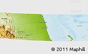 Physical Panoramic Map of Ciabbub Areddu