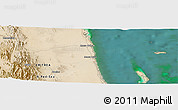 Satellite Panoramic Map of Ciabbub Areddu