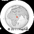 Outline Map of Sahelia, rectangular outline