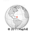Outline Map of La Halle, rectangular outline