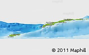 """Physical Panoramic Map of the area around 16°19'2""""N,86°37'30""""W"""