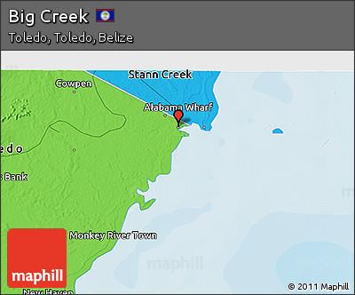 Political 3D Map of Big Creek