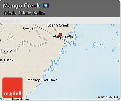 Shaded Relief 3D Map of Mango Creek