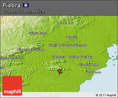 Physical 3D Map of Piebra