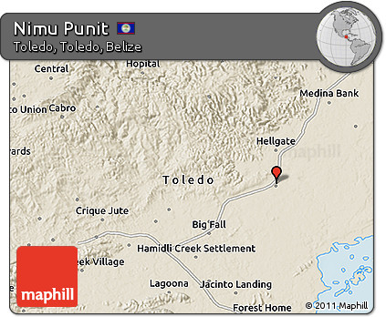 Shaded Relief 3D Map of Nimu Punit