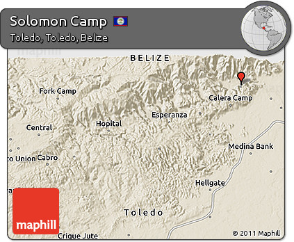 Shaded Relief 3D Map of Solomon Camp