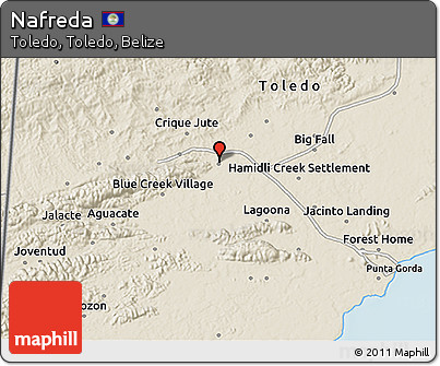 Shaded Relief 3D Map of Nafreda
