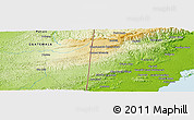 Physical Panoramic Map of Crique Jute
