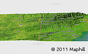 Satellite Panoramic Map of Crique Jute