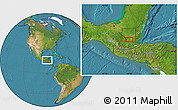 """Satellite Location Map of the area around 16°19'2""""N,90°1'30""""W"""