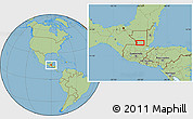 """Savanna Style Location Map of the area around 16°19'2""""N,90°1'30""""W"""