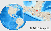 """Shaded Relief Location Map of the area around 16°19'2""""N,90°1'30""""W"""