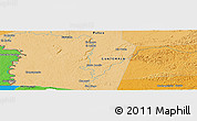 """Political Panoramic Map of the area around 16°19'2""""N,90°1'30""""W"""