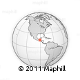 """Outline Map of the Area around 16° 19' 2"""" N, 90° 52' 30"""" W, rectangular outline"""
