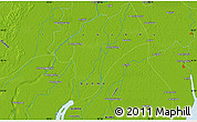 """Physical Map of the area around 16°19'2""""N,95°16'30""""E"""