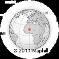 Outline Map of Baléssadjié, rectangular outline